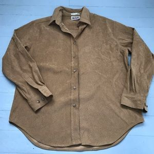 Men's size small snakeskin faux suede button down